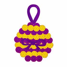 """Набор для творчества - создай ёлочное украшение """"Шар с пайеткками"""", цвет фиолетово-золотой"""