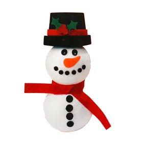 """Набор для творчества - создай новогоднее украшение """"Снеговик в цилиндре"""""""
