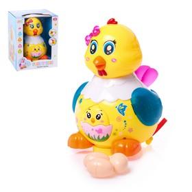 Развивающая игрушка «Курочка», световые и звуковые эффекты, несёт яички, МИКС