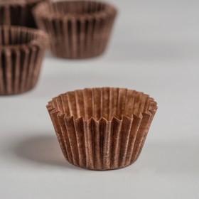 Тарталетка, коричневая, 2,2 х 1,6 см