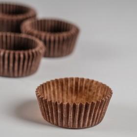 Тарталетка, коричневая, 3 х 1,5 см Ош