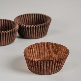 Тарталетка, коричневая, 4 х 2,1 см Ош
