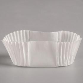Тарталетка, белая, форма овал, 2,5 х 4,5 х 2 см