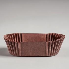 Тарталетка, коричневая, форма овал, 3 х 6,5 х 2,25 см