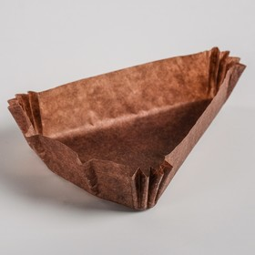 Тарталетка, коричневая, форма треугольник, 10,2 х 10,2 х 7,5 х 2,5 см