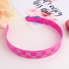 Hair band Holography checkerboard 2 cm, mix
