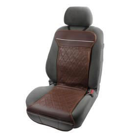 Подогрев сидений TORSO, экокожа, 12 В, 35 Вт, провод 1,1 м, с регулятором, коричневый