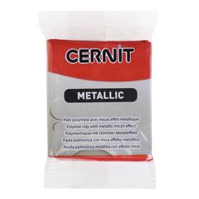 Полимерная глина запекаемая, Cernit Metallic с металлическим эффeктом, 56 г, медь, №057
