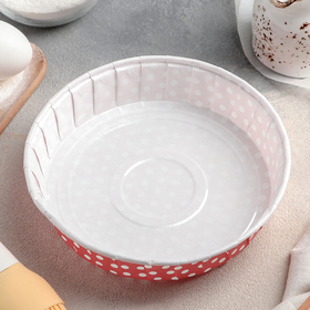 "Form for baking round 18x18x3,5 cm ""Pea-red"""