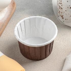 Форма для выпечки круглая «Шоколад с молоком», 6,5×6,5×4 см
