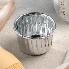 Форма для выпечки круглая «Серебро», 6,5×6,5×4 см