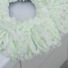 Набор для уборки: ведро на колёсиках с металлической центрифугой 16 л, швабра, запасная насадка из микрофибры - фото 4644233