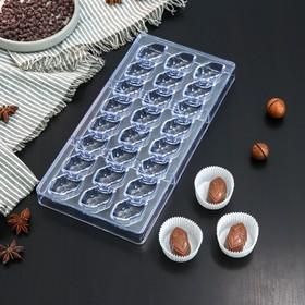 """Форма для шоколада 28×14 см """"Презент"""", 24 ячейки"""