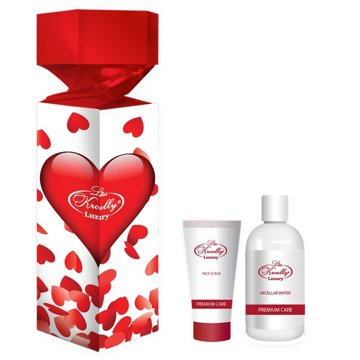 Подарочный набор Liss Krouly Rose: мицеллярная вода+скраб д/лица