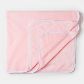 Плед детский нежно розовый 90х100см, велсофт 260г/м пэ100%