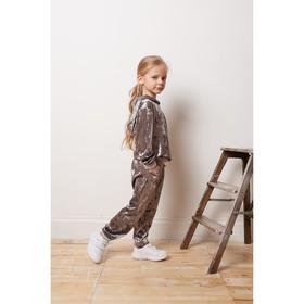 Костюм: худи, брюки KAFTAN, серый, рост 110-116, р.32
