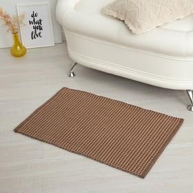 Carpet GLITTA, 50 x 80 ± 3 cm, colour beige.