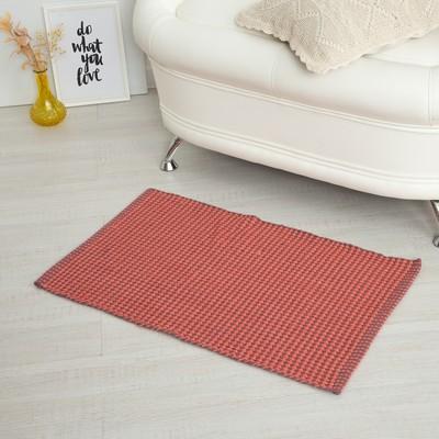 Carpet GLITTA, 50 x 80 ± 3 cm, colour red.