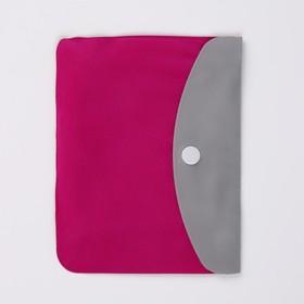 Подушка-воротник для шеи, с подголовником, надувная, в чехле, 43 × 28 см, цвет МИКС - фото 4639294