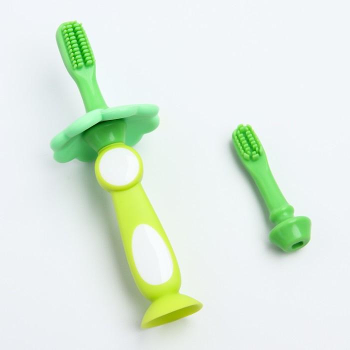 Зубная щетка с ограничителем, цвет МИКС