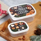 """Set lunch boxes 2 PCs """"happy new year"""""""