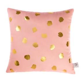 Подушка декоративная Этель «Горошек розовый», 40х40 см, велюр, 100% п/э
