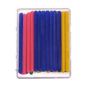 Набор счётных палочек, 50 штук шестигранных флуоресцентных, евробокс, РСЧ50, микс