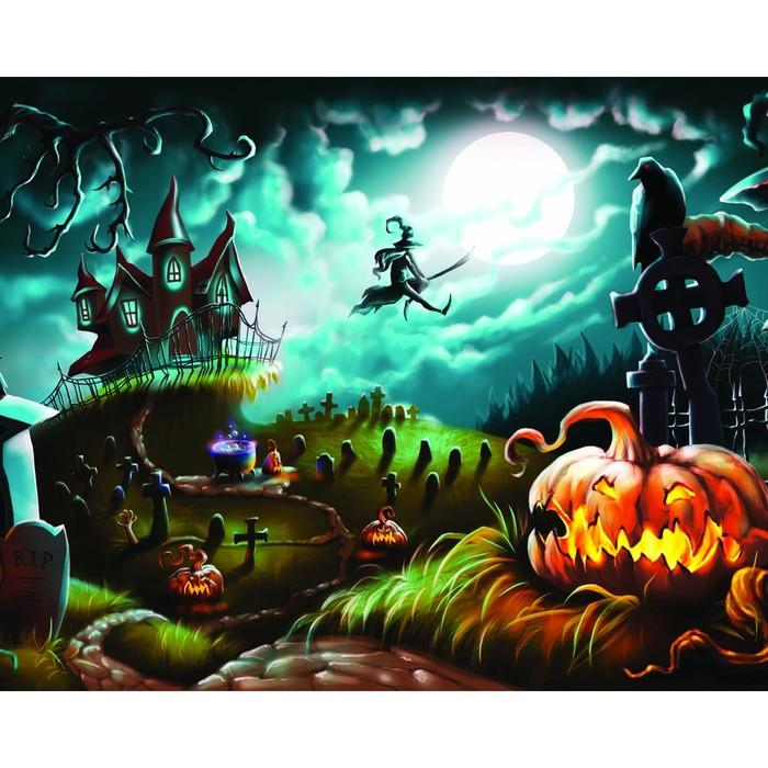 Фотобаннер, 250 × 200 см, с фотопечатью, «Ночное кладбище»