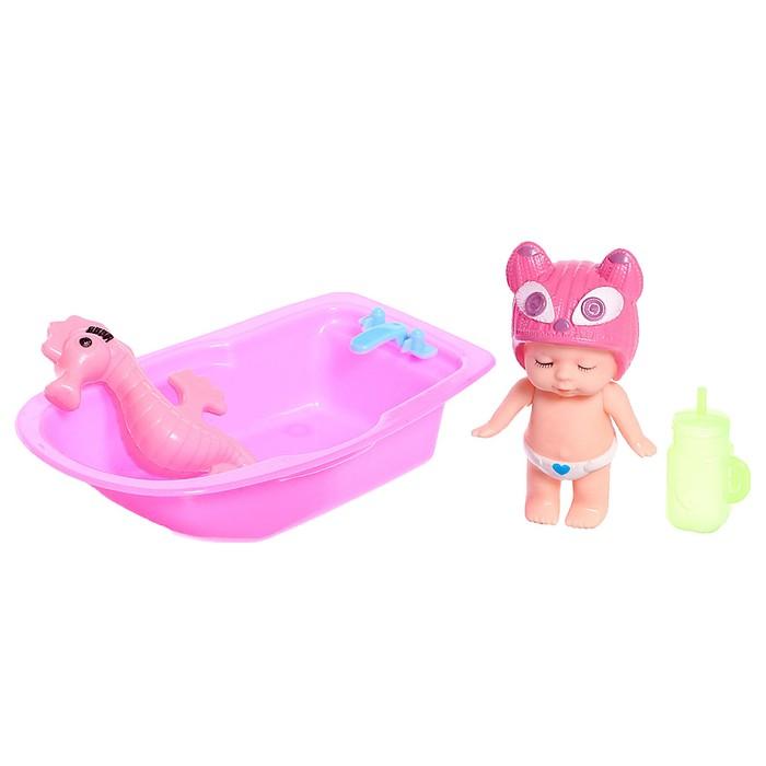 Пупс «Малыш» с ванной, с аксессуарами, МИКС