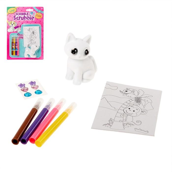 Набор игрушка «Питомец», раскраска с аксессуарами, МИКС