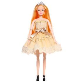 Кукла-модель «Эмели» в платье, с аксессуарами