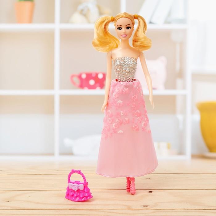 Кукла модель «Маша» в платье, с аксессуарами, МИКС