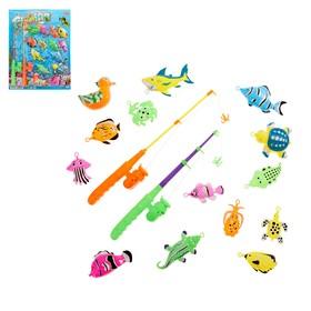 Рыбалка «Морские приключения»: 14 фигурок, 2 удочки