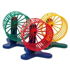 Wheel plastic for rodents, with stand, 9 cm, mix colors