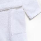 Халат махровый детский Экономь и Я р. 30, цв.белый, 100%хл с AIRO, 320 г/м2 - фото 7565086
