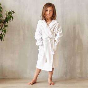 Халат махровый детский Экономь и Я р. 30, цв.белый, 100%хл с AIRO, 320 г/м2 - фото 7310723