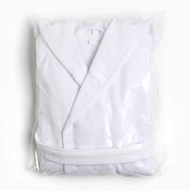 Халат махровый детский Экономь и Я р. 30, цв.белый, 100%хл с AIRO, 320 г/м2 - фото 7565084