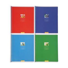 Тетрадь 48 листов в клетку «Моноколор. Office style», обложка мелованный картон,двойной УФ-лак, МИКС