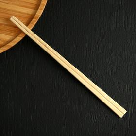Палочки деревянные для еды 21 см, 100 шт, в индивидуальной п/э упаковке
