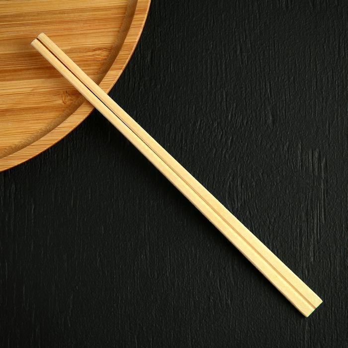 Палочки деревянные для еды 21 см, 100 шт, в индивидуальной бумажной упаковке