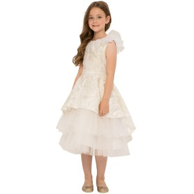 Платье для девочек, рост 152 см, цвет молочный