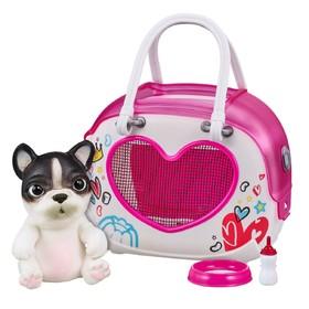 Интерактивная игрушка OMG Pets! Cквиши-щенок, в переноске