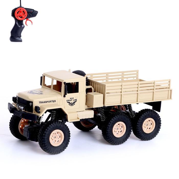 Грузовик радиоуправляемый «Фургон», полный привод 6WD, работает от аккумулятора, 1:16, цвет бежевый - фото 76284238