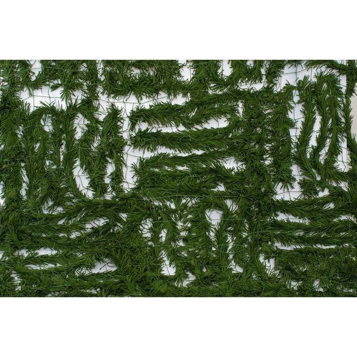 Маскировочная сеть «Папоротник», 1,5 × 2 м на сетевой основе, трава, светло-зелёная