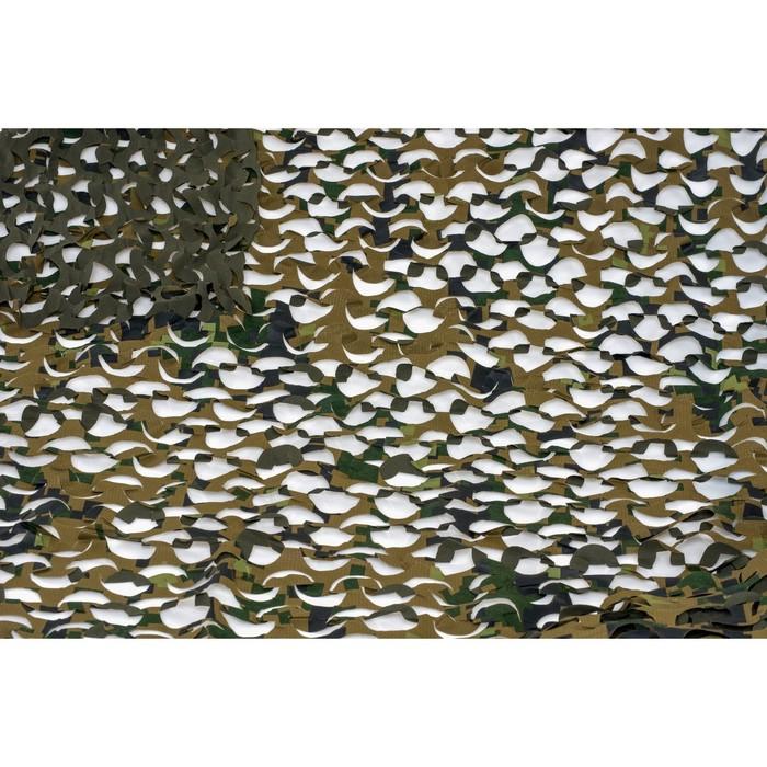Маскировочная сеть «Пейзаж. Лес 3D», 2,2 × 3 м, зелёная/коричневая