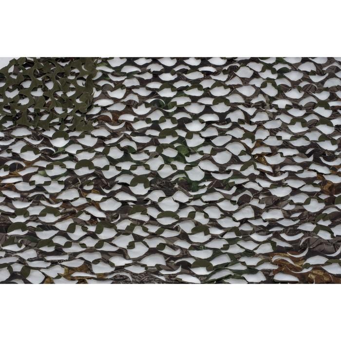 Маскировочная сеть «Пейзаж. Тайга 4D», 2,4 × 1,5 м, тёмно-зелёная/тёмно-коричневая/чёрная