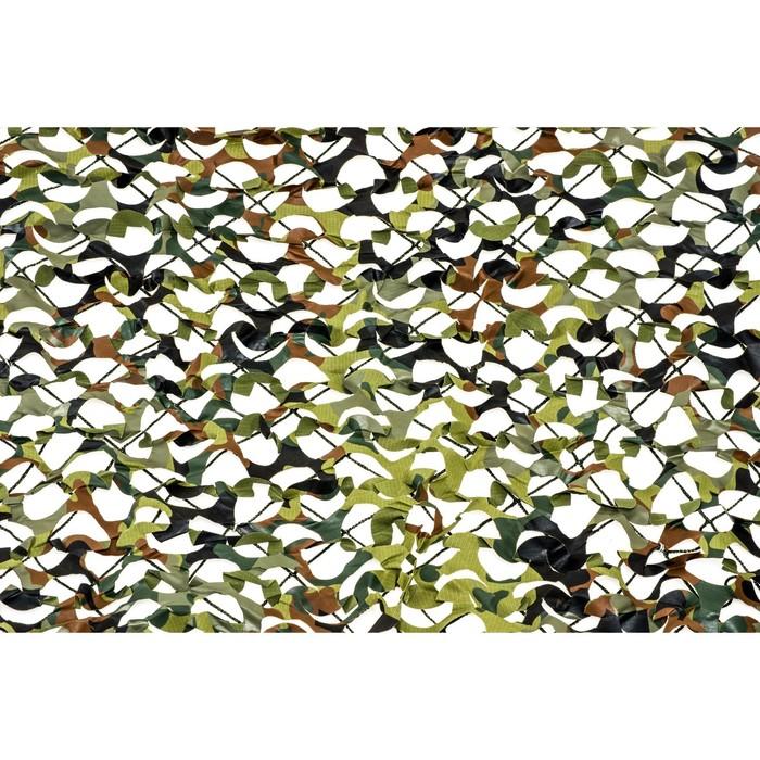 Маскировочная сеть «Пейзаж-профи. GERMANY 3D», 1,8 × 6 м, на сетевой основе, зелёная/коричневая/светло-зелёная