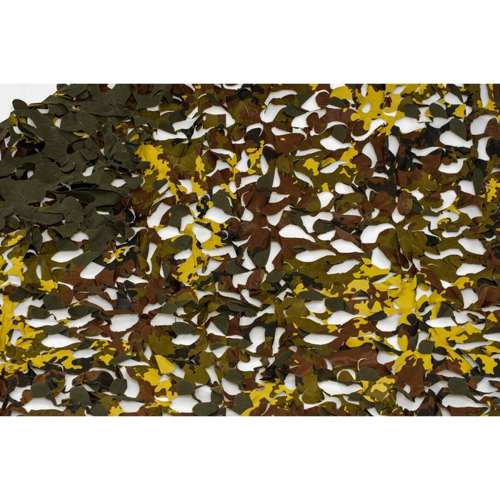 Маскировочная сеть «Пейзаж-профи. ITALY 3D», 1,8 × 6 м, на сетевой основе, зелёная/коричневая/жёлтая
