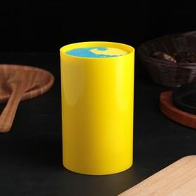 "Подставка для ножей ""Палитра"", 18х11 см, цвет желтый"