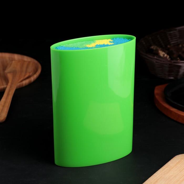 "Подставка для ножей ""Палитра"" овальная, 22х16 см, цвет зеленый"